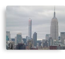 432 Park Avenue Skyscraper, Empire State Building, View from Jersey City, New Jersey Canvas Print
