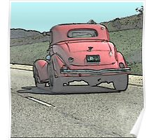 Watercolor of Older Car Poster
