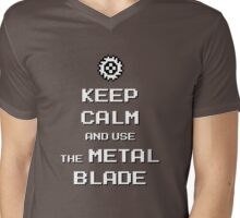 Keep Calm and use the Metal Blade Mens V-Neck T-Shirt