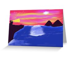 Lighthouse Mountain Greeting Card