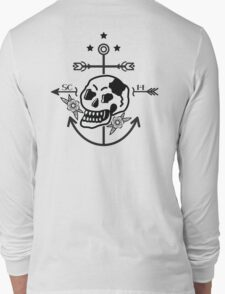SKULL ANCHOR BLACK Long Sleeve T-Shirt