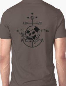 SKULL ANCHOR BLACK T-Shirt