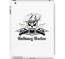 Chef Skull 2.2: Culinary Genius 3 black flames iPad Case/Skin