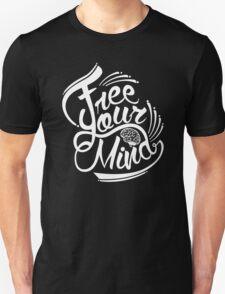 FREE YOUR MIND WHITE Unisex T-Shirt