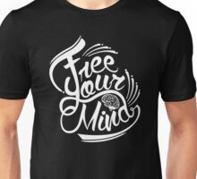 FREE YOUR MIND WHITE Unisex T-Shirt