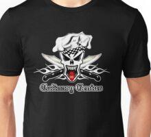 Chef Skull 2.1: Culinary Genius 3 white flames Unisex T-Shirt