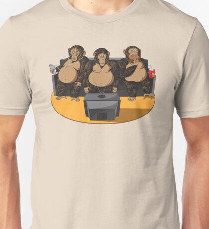 Three Modern Monkeys Unisex T-Shirt