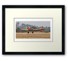 Harvard  Take-off Silver Queen Air Race Framed Print