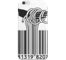 Spaghetti Barcode iPhone Case/Skin