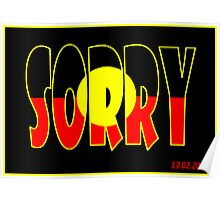 sorry poster Poster
