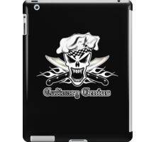 Chef Skull 2.2: Culinary Genius 3 white flames iPad Case/Skin
