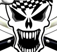 Chef Skull 2.2: Culinary Genius 3 white flames Sticker