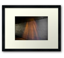 A sodium ray of hope. Framed Print