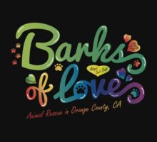 Clothing - Barks of Love (Colors on Black) by Barks of Love Animal Rescue