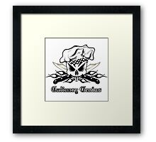 Chef Skull 2.3: Culinary Genius 3 black flames Framed Print