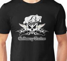 Chef Skull 2.3: Culinary Genius 3 white flames Unisex T-Shirt