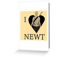 I Love Newt Greeting Card