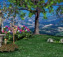 Fairy Statue Landscape 03 by OFWDesigns