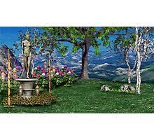 Fairy Statue Landscape 03 Photographic Print