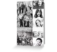 Shaytards Black and White Collage Greeting Card