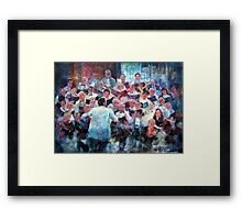 Choir In Concert Framed Print