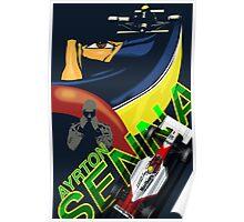 Ayrton Senna Retro Race poster Poster