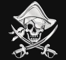 Chrome Nautical Pirate Crossbones by Garaga