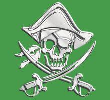 Chrome Nautical Pirate Crossbones One Piece - Short Sleeve