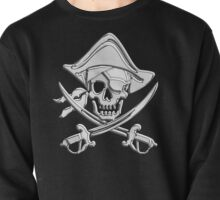 Chrome Nautical Pirate Crossbones Pullover