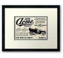ACME MOTOR COMPANY 1906 Framed Print