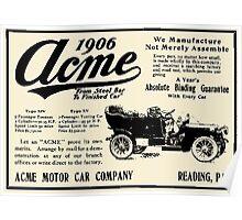 ACME MOTOR COMPANY 1906 Poster