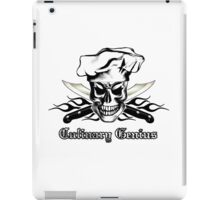 Chef Skull 3: Culinary Genius 3 black flames iPad Case/Skin