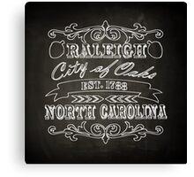 Raleigh, North Carolina - City Love Canvas Print