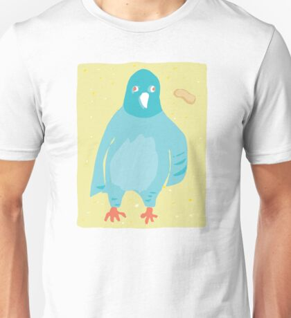 Pigeon with empty  peanut shell Unisex T-Shirt