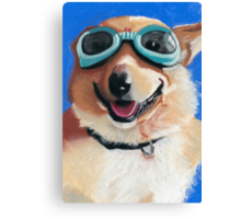 Corgi in Goggles Canvas Print