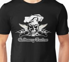 Chef Skull 3: Culinary Genius 3 white flames Unisex T-Shirt