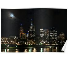 Melbourne at night 06 [r] Poster