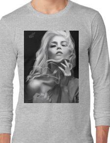 Alison Harvard B&W Portrait Long Sleeve T-Shirt