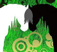 Poison Yin & Yang Horses by Kayla Dibble