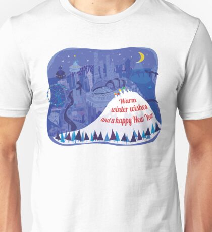 Seattle Holiday Card Unisex T-Shirt