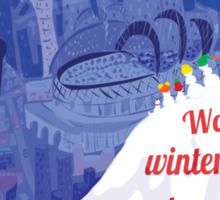 Seattle Holiday Card Sticker