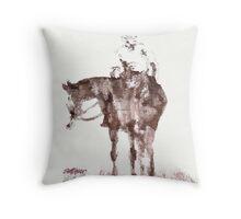 The Horseman Throw Pillow