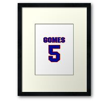 National baseball player Jonny Gomes jersey 5 Framed Print