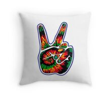 Tie-Dye Peace Sign Throw Pillow
