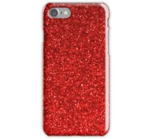 Red glitter design phone case iPhone Case/Skin