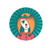 clown girl Photographic Print