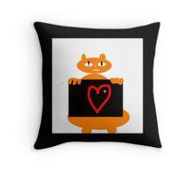 MY PET, Orange cat, RED HEART Throw Pillow
