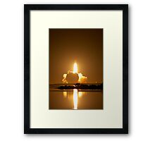 Shuttle Endeavor Night Launch. Framed Print
