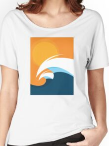 Morning Peaks | Wave Art Women's Relaxed Fit T-Shirt