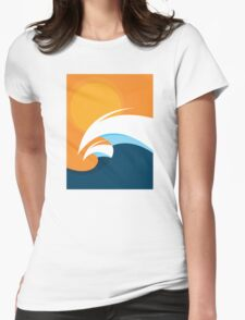 Morning Peaks | Wave Art Womens Fitted T-Shirt